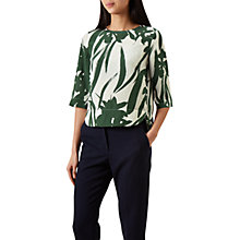 Buy Hobbs Maida Top, Pine Green Online at johnlewis.com