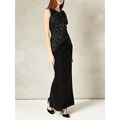Phase Eight Collection 8 Embry Full Length Dress, Black/Silver