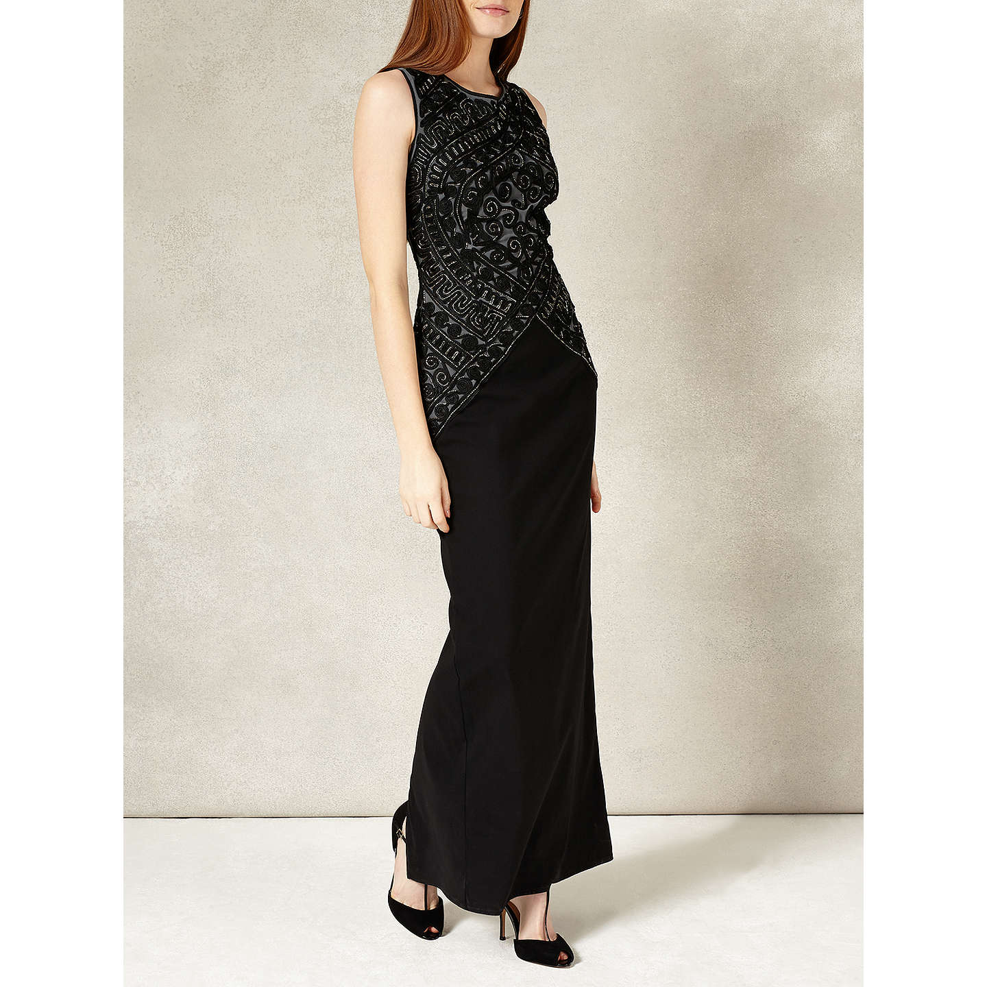 Phase Eight Collection 8 Embry Full Length Dress, Black