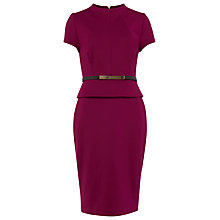 Buy Phase Eight Darcy Belted Dress, Garnet Online at johnlewis.com