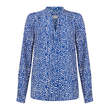 Buy Hobbs Henrietta Top, Indigo Blue Online at johnlewis.com