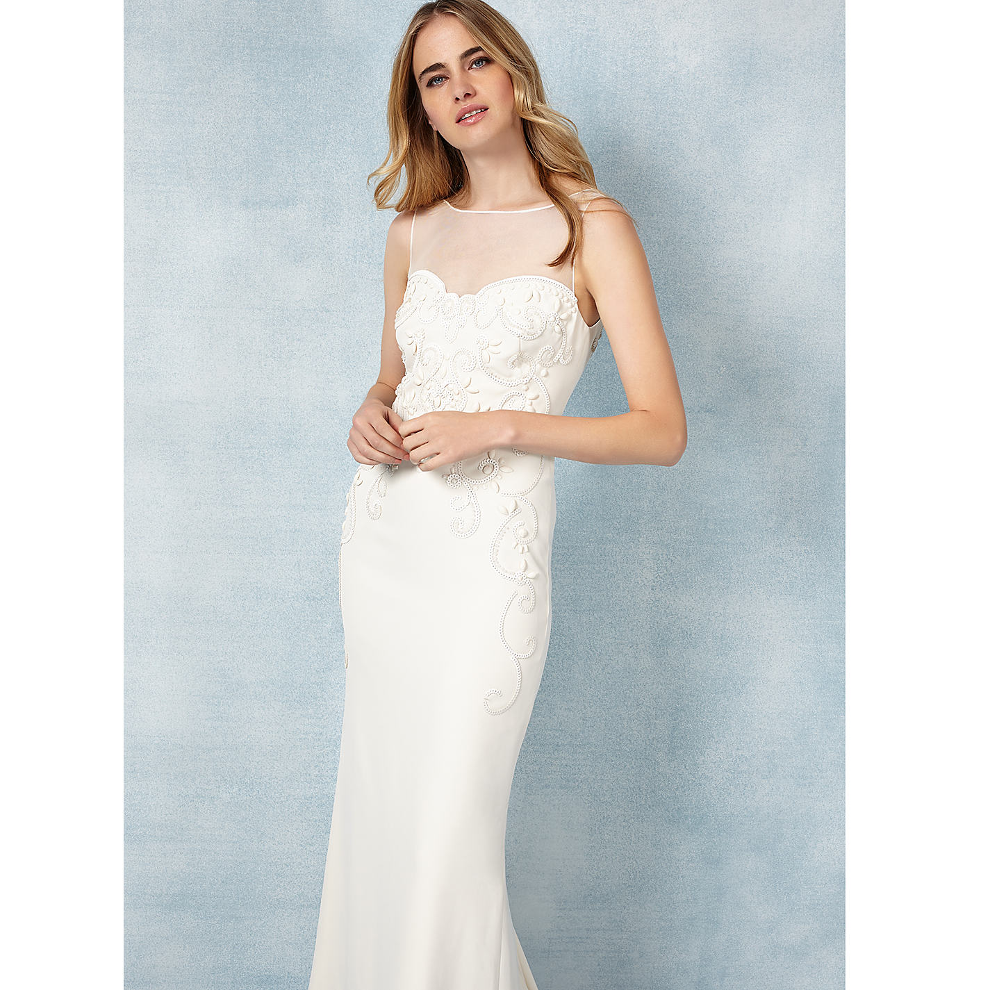 Phase Eight Bridal Carinne Wedding Dress Cream Online At Johnlewis