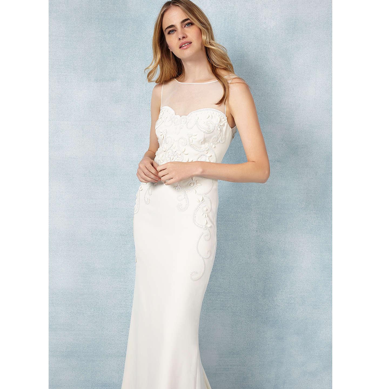 Phase Eight Bridal Carinne Wedding Dress, Cream at John Lewis