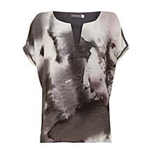 Buy Mint Velvet Florrie Print V-Neck T-Shirt, Multi Online at johnlewis.com