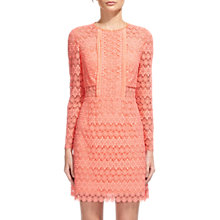 Buy Whistles Circle Lace Dress, Pink Online at johnlewis.com