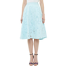 Buy Ted Baker Quinia Burnout Circle Skirt, Pale Blue Online at johnlewis.com