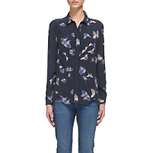 Buy Whistles Sophia Butterfly Print Shirt, Blue/Multi Online at johnlewis.com