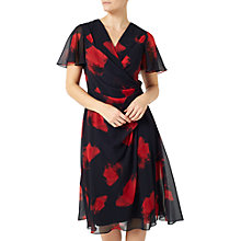 Buy Jacques Vert Poppy Print Dress, Navy/Multi Online at johnlewis.com