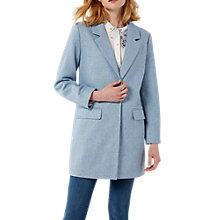 Buy White Stuff Alexa Single Breasted Coat, Powder Blue Online at johnlewis.com