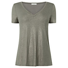 Buy Oasis Foil V-Neck T-Shirt Online at johnlewis.com