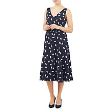 Buy Jacques Vert Spot Print Prom Dress, Blue/Multi Online at johnlewis.com