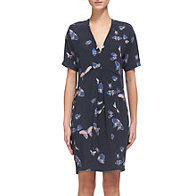 Buy Whistles Josie Butterfly Print Dress, Blue/Multi Online at johnlewis.com