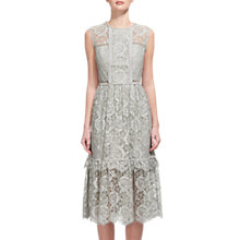 Buy Whistles Rosie Lace Dress, Pale Grey Online at johnlewis.com