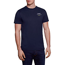 Buy Hackett London Aston Martin Racing Logo T-Shirt, Navy Online at johnlewis.com