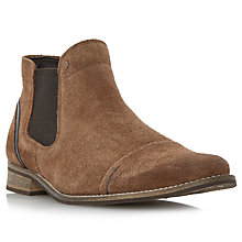 Buy Dune Chili Toecap Detail Suede Chelsea Boots, Tan Online at johnlewis.com