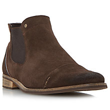 Buy Dune Chili Toecap Detail Suede Chelsea Boots, Brown Online at johnlewis.com