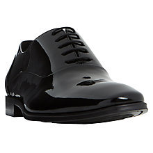 Buy Dune Pluto Patent Oxford Shoes, Black Online at johnlewis.com