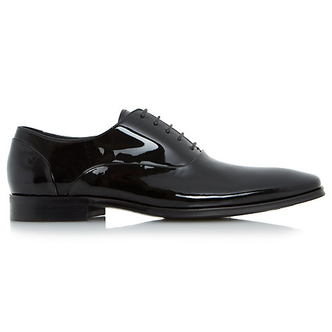 Buy Dune Pluto Patent Oxford Shoes, Black Online at