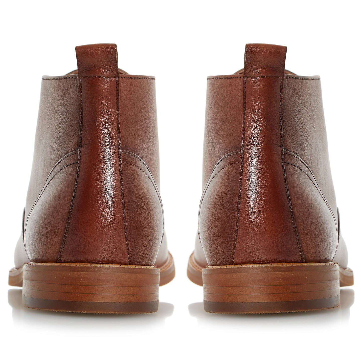BuyDune Magnus Leather Chukka Boots, Tan, 6 Online at johnlewis.com
