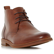 Buy Dune Magnus Leather Boots, Tan Online at johnlewis.com