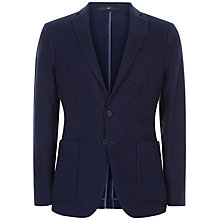 Buy Jaeger Waffle Textured Cotton Slim Fit Blazer, Navy Online at johnlewis.com