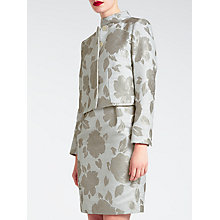 Buy Bruce by Bruce Oldfield Velvet Jacquard Jacket, Grey Online at johnlewis.com