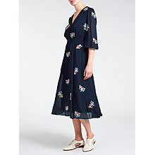 Buy Somerset by Alice Temperley Embroidered Dress, Navy Online at johnlewis.com