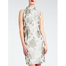 Buy Bruce by Bruce Oldfield Velvet Jacquard Dress, Grey Online at johnlewis.com