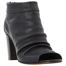 Buy Dune Black Jakie Peep Toe Shoe Boots Online at johnlewis.com