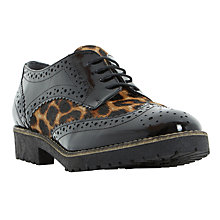 Buy Dune Faune Lace Up Brogues, Leopard Online at johnlewis.com