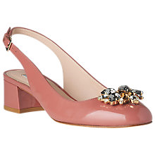 Buy L.K. Bennett Elvira Jewelled Slingback Court Shoes, Dark Pink Online at johnlewis.com