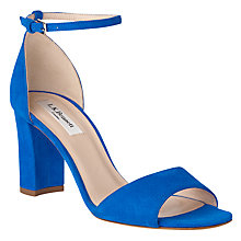 Buy L.K. Bennett Helena Block Heeled Sandals, Majorelle Suede Online at johnlewis.com