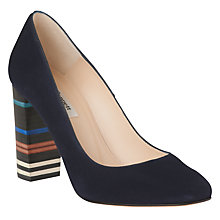 Buy L.K. Bennett Marlowe Block Heeled Court Shoes, Navy Online at johnlewis.com
