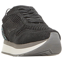 Buy Dune Black Everlynn Lace Up Trainers Online at johnlewis.com