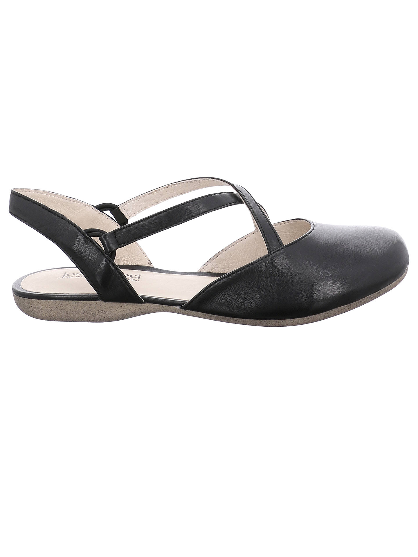 424c2b003830b Buy Josef Seibel Fiona 13 Cross Strap Pumps, Black Leather, 3 Online at  johnlewis ...