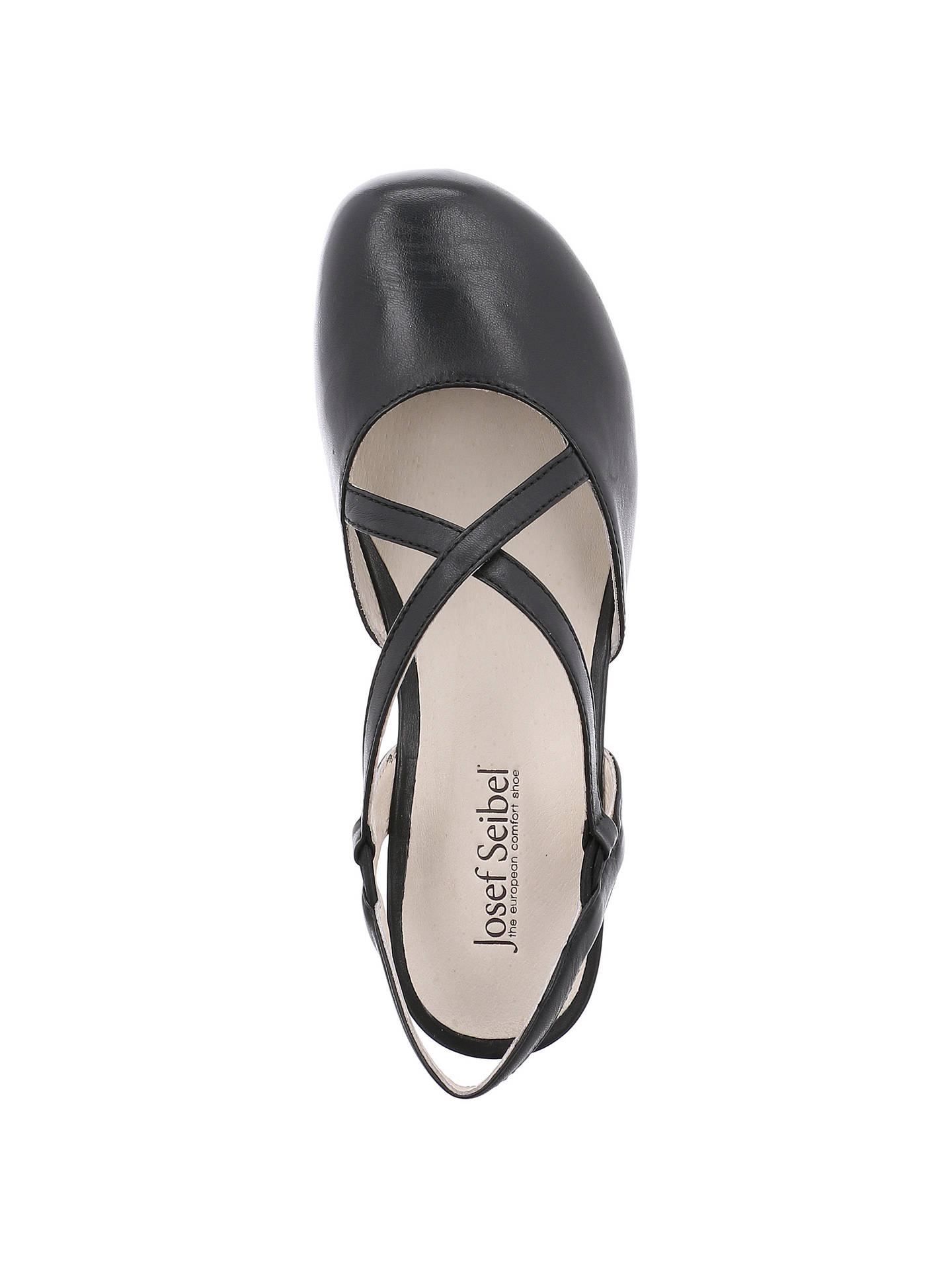 962c960d1eea0 ... Buy Josef Seibel Fiona 13 Cross Strap Pumps, Black Leather, 3 Online at  johnlewis ...