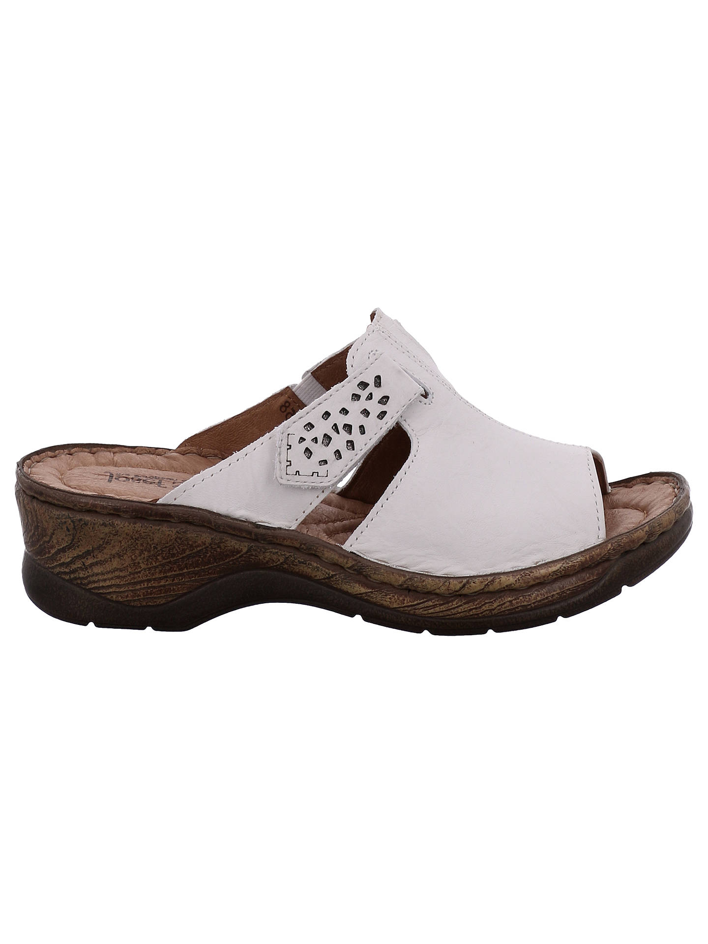 c159feb87baf9 Buy Josef Seibel Catalonia 32 Slip On Sandals, White Leather, 4 Online at  johnlewis ...