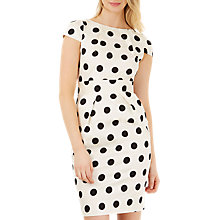 Buy Closet Polka Tie Back Dress, Black/White Online at johnlewis.com