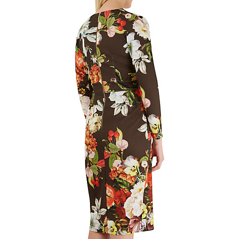 Buy Closet Floral Print Wrap Over Dress, Multi Online at johnlewis.com