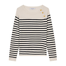 Buy Gerard Darel Lula Stripe Jumper, Beige Online at johnlewis.com
