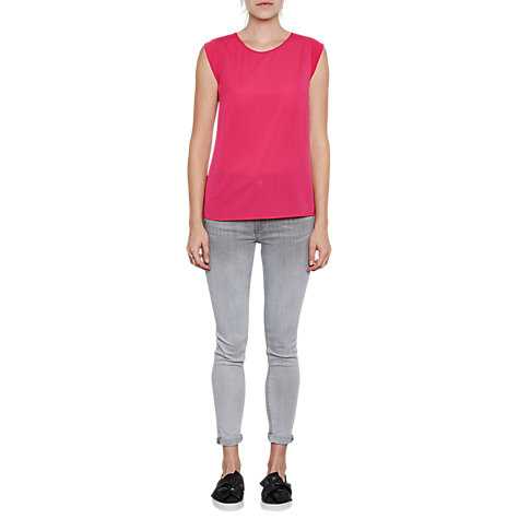 Buy French Connection Classic Crepe Capped Sleeve T-Shirt Online at johnlewis.com
