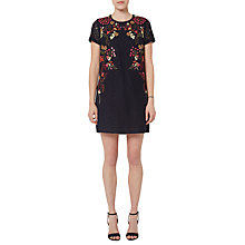 Buy French Connection Legere Lace Tunic Dress, Utility Blue Online at johnlewis.com