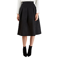 Buy Closet Pinhole Textured Pleated Skirt, Black Online at johnlewis.com