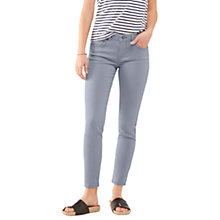 "Buy Jigsaw Richmond 28"" Garment Dyed Skinny Jeans, Blue Pearl Online at johnlewis.com"