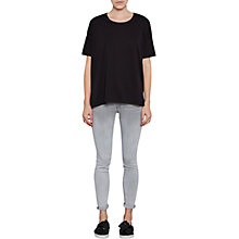 Buy French Connection Dabo Bonded Oversized T-Shirt, Black Online at johnlewis.com