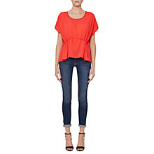 Buy French Connection Classic Crepe Drawstring Waist Top, Sunset Wave Online at johnlewis.com