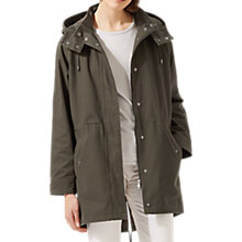 Buy Jigsaw Rosier Long Parka, Dark Kale Online at johnlewis.com