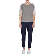 Buy French Connection Dune Lace Crochet T-Shirt Online at johnlewis.com