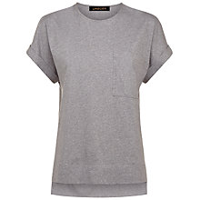 Buy Jaeger Stepped Hem T-Shirt, Grey Online at johnlewis.com