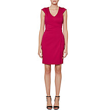 Buy French Connection Lula Jersey Wrap Dress, Summer Rouge Online at johnlewis.com